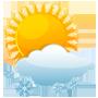 Ciel variable, faibles chutes neige