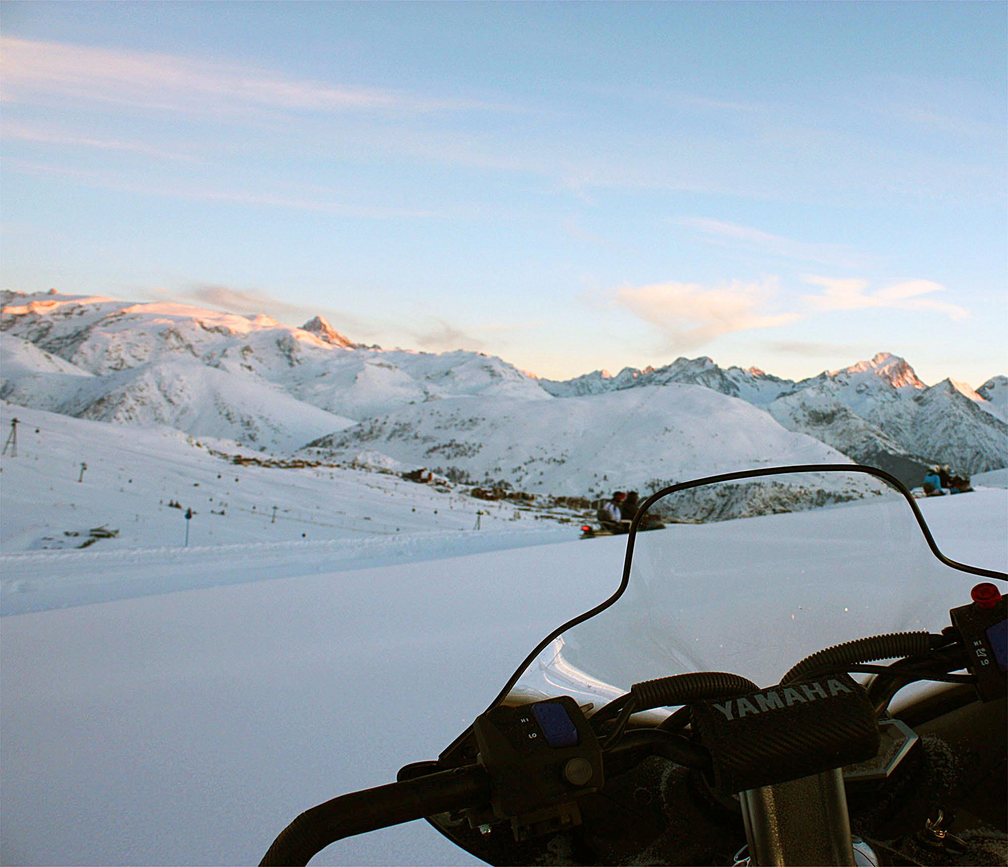 Motoneige à l'Alpe d'Huez