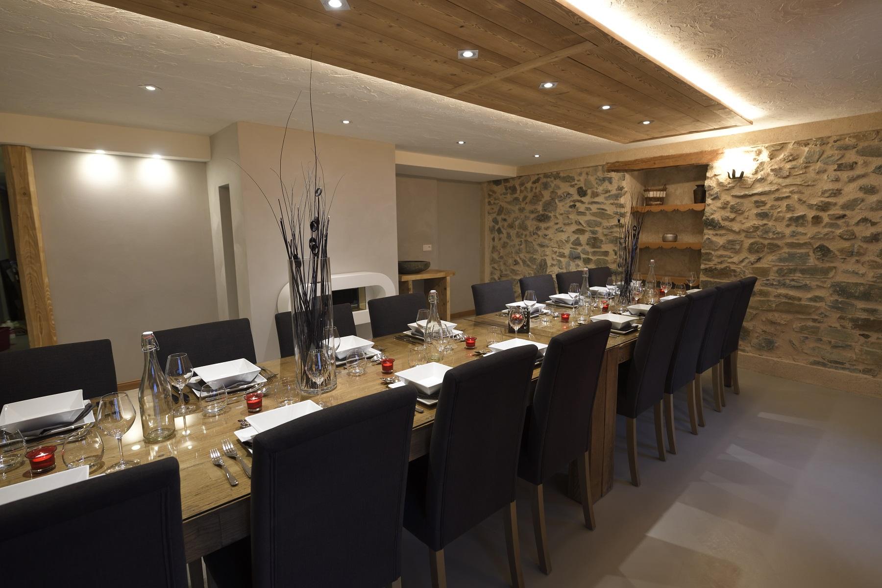 Chalet Ancolie salle à manger
