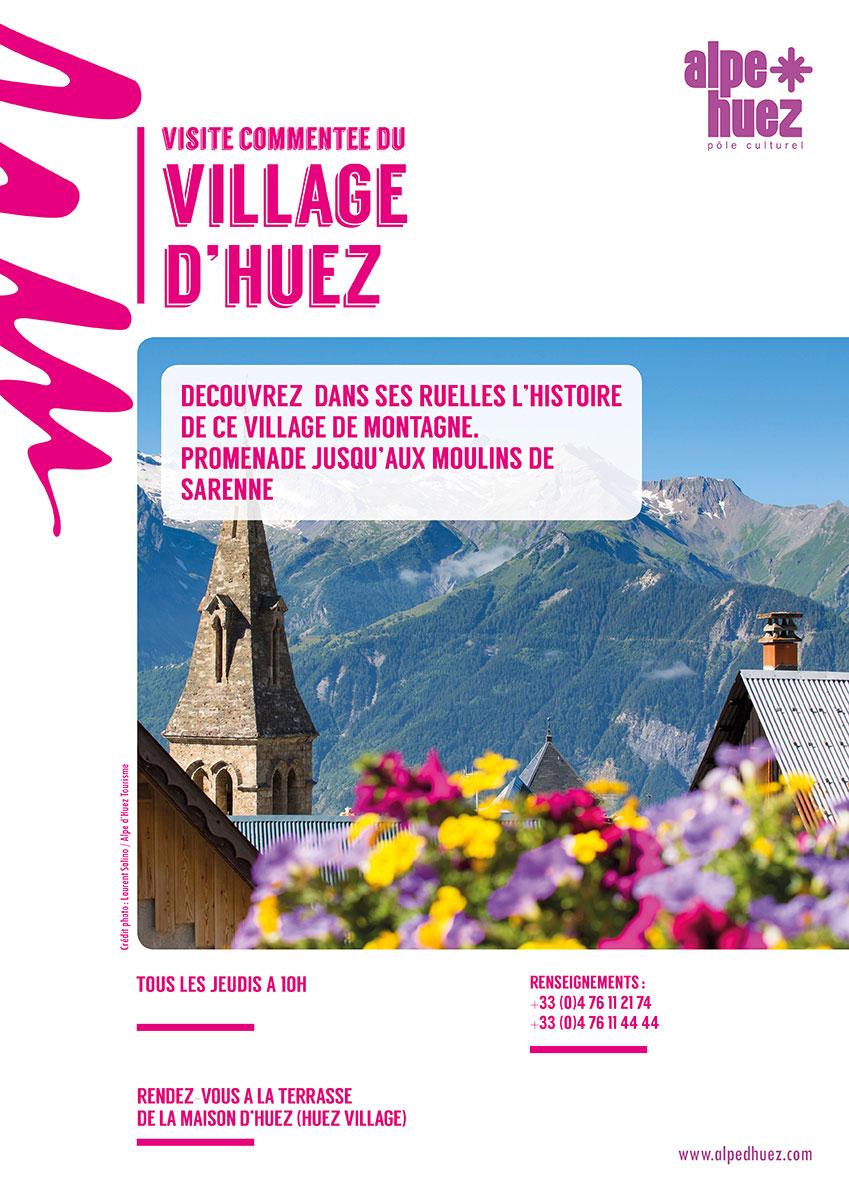 Visite commentee du village d'Huez -